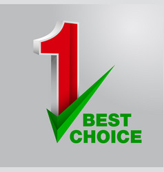 number one best choice vector image