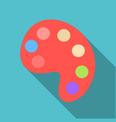 Palette with paints isolated on background vector