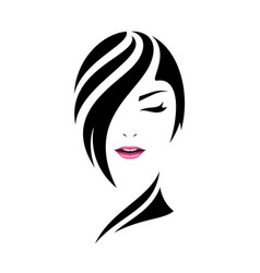 Pretty woman face care concept design vector