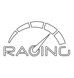racing speedometer logo outline style vector image