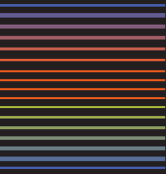 rainbow line horizontal seamless pattern vector image