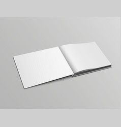realistic mockup pages open book landscape vector image
