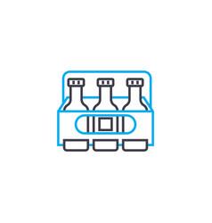 refrigerator bag linear icon concept refrigerator vector image