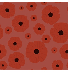 Remembrance Day seamless pattern vector image