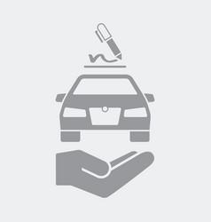 Signature for car service vector