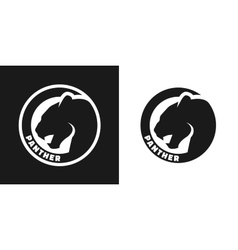 silhouette an panther monochrome logo vector image