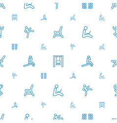 Sit icons pattern seamless white background vector