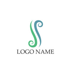 Ss logos and symbols template icons app vector