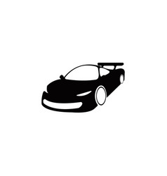 super sport car view from the side icon element vector image