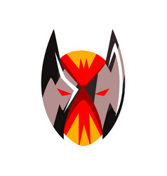 Superhero or villain mask on a vector