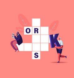 Tiny characters put huge letters in empty vector