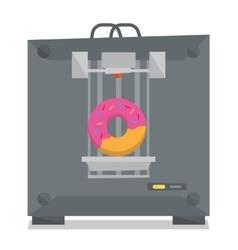 Tree D printer vector