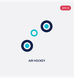 Two color air hockey icon from entertainment and vector