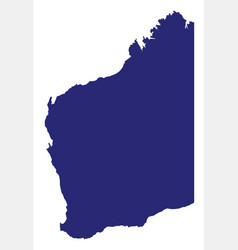 western australia state silhouette vector image