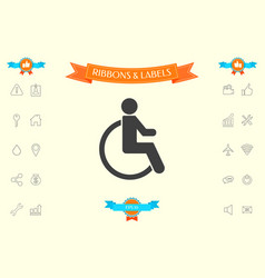 wheelchair handicap icon vector image