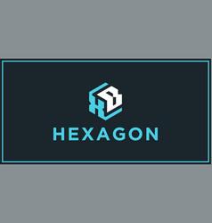 Xb hexagon logo design inspiration vector