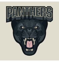Angry Panther Sport team emblem vector image