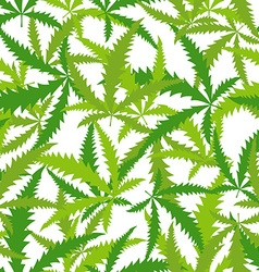 Marijuana Cannabis seamless pattern background of vector image vector image