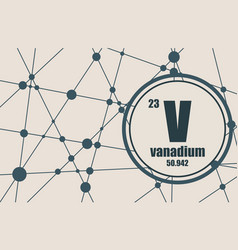 vanadium chemical element vector image