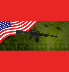 usa united states of america military power army vector image