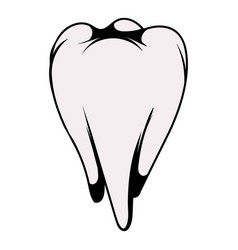 white tooth icon icon cartoon vector image vector image