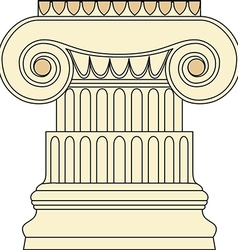 Antique column pillar vector image