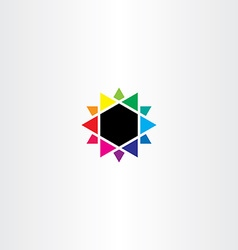 colors mixing colorful star icon design vector image