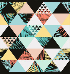 exotic beach trendy seamless pattern vector image vector image