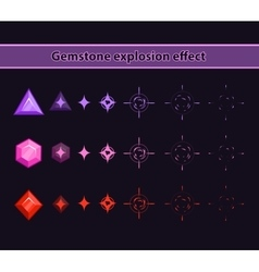 Gemstone explosion effect vector image vector image