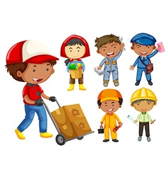 People doing different types of jobs vector image vector image