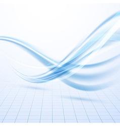 Speed blue swoosh data lines background vector