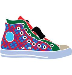 Sport shoes design vector image