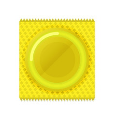 condom plastic package in flat style vector image