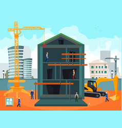 construction and building vector image