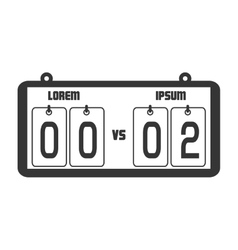 icon score board goals football american isolated vector image vector image