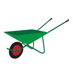 image of a wheelbarrow for working in the g vector image