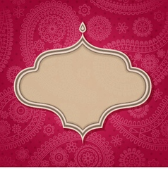 Indian frame vector image