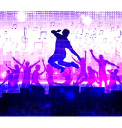 Night Club Neon Lit Background vector image vector image