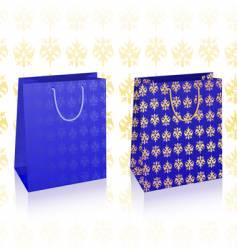 royal blue bags vector image