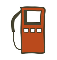 A gas station vector