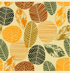 abstract autumn seamless pattern with trees vector image