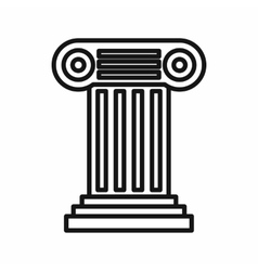 Ancient Ionic pillar icon outline style vector image