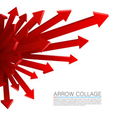 Arrow explosion red vector