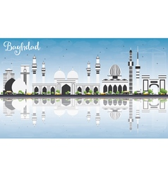 Baghdad Skyline with Gray Buildings vector image