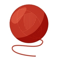 Ball of yarn icon cartoon style vector