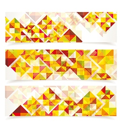Banners mosaic WT vector