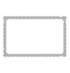 black floral horizontal frame decoration vector image