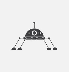 Black icon on white background spaceship icon vector