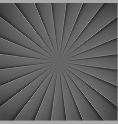 black rays in paper style background vector image