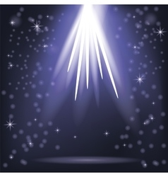 Blue Rays of Lights vector image